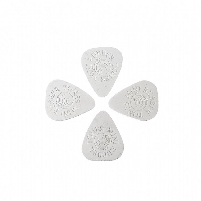 Rubber Tones Mini - White Silicon - 4 Picks | Timber Tones